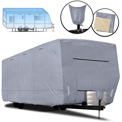 6. RVMasking 100% Waterproof Oxford Travel Trailer Cover