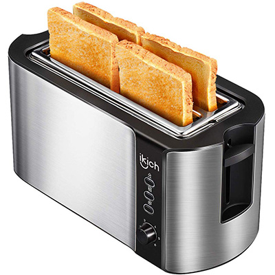 9. IKICH Long Slot Toaster