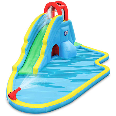 9. Sunny & Fun Deluxe Inflatable Water Slide