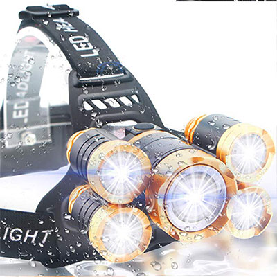 10. Soft Digits USB Rechargeable Head Lamp