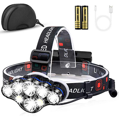 7. MOICO 13000 High Lumens Headlamp