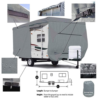 8. Seamander Extra Thick Travel Trailer Cover