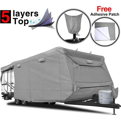 5. RVMasking 5-ply Travel Trailer Cover