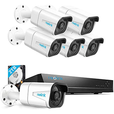 5. Reolink 4K PoE Home Security Camera System NVR Recorder