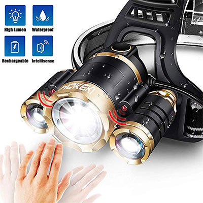 2. JLANG Headlamp with 5 Modes
