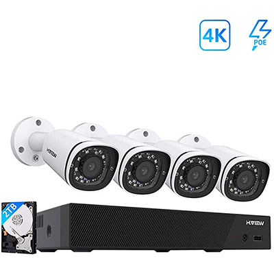 1. H.VIEW 4k Security Camera System 8CH 8MP PoE NVR
