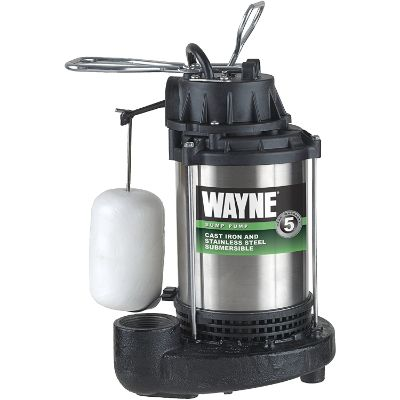 7. Wayne 3/4 HP Cast Iron and Stainless Steel Sump Pump (CDU980E)