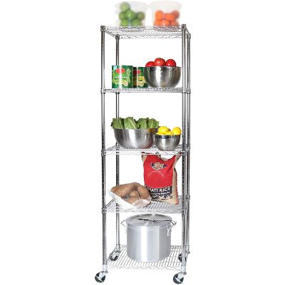 6. Seville Classics NSF-Certified Steel Shelving (5-Tier)