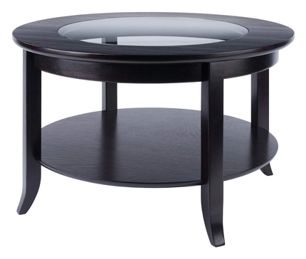 Winsome Coffee Table Genoa Espresso - Round Coffee Tables