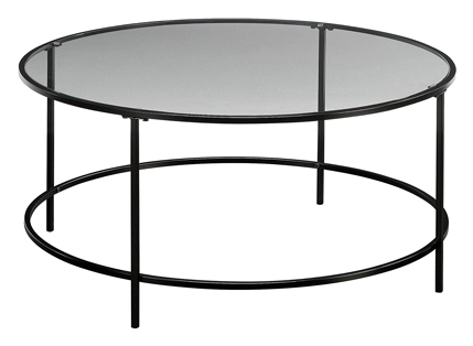 Sauder Harvey Coffee Table Park Black or Clear Glass