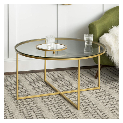 Walker Edison Furniture Company Modern Round Accent Table - Round Coffee Tables