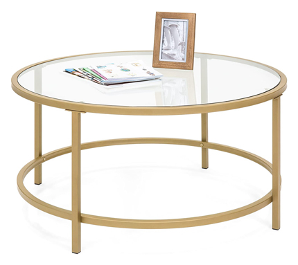 Best Choice Products 36in Round Tempered Coffee Table