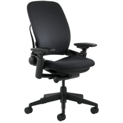 3. Steelcase Black Leap Fabric Chair