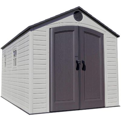 10. LIFETIME 8 x 15 Ft. Outdoor Storage Shed (60075)