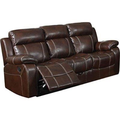 7. Myleene Motion Sofa with Pillow Arms, Chesnut