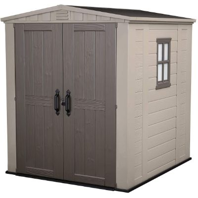 4. Keter Factor Large Resin Outdoor Shed (6x6)